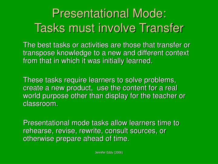Presentational Mode: