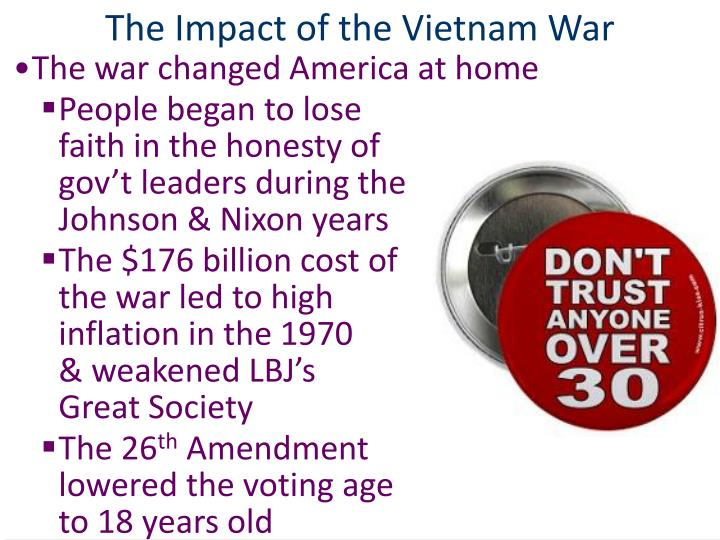 The Impact of the Vietnam War
