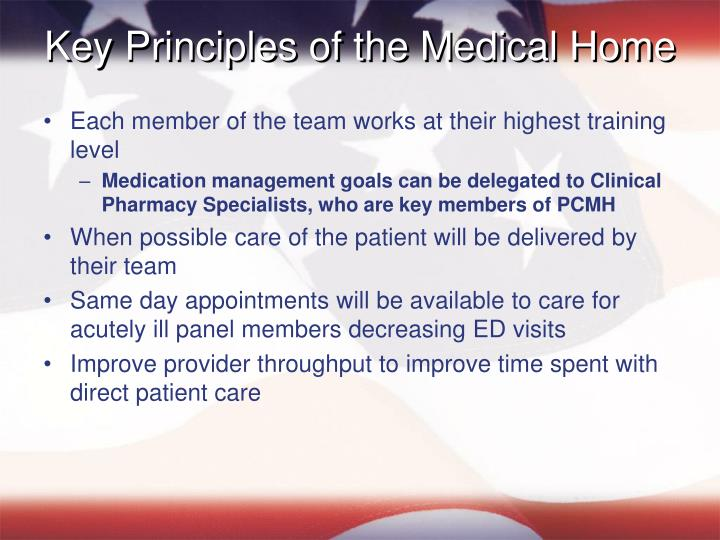 Key Principles of the Medical Home