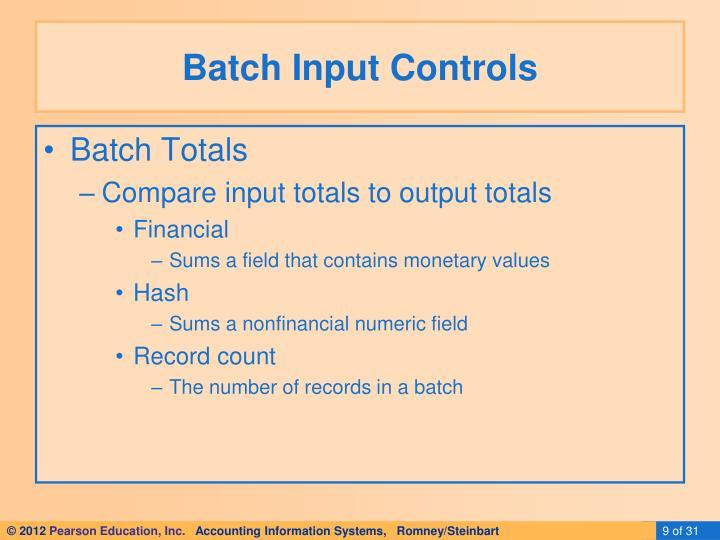 Batch Input Controls