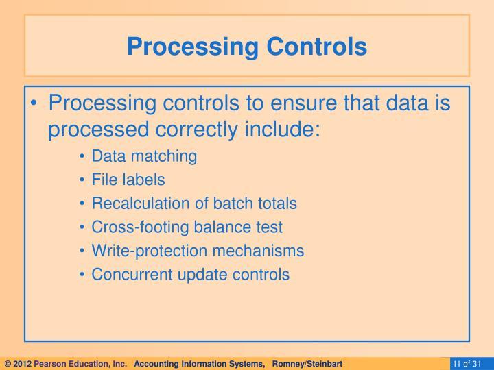 Processing Controls