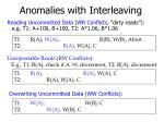 anomalies with interleaving