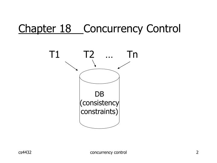 Chapter 18 concurrency control