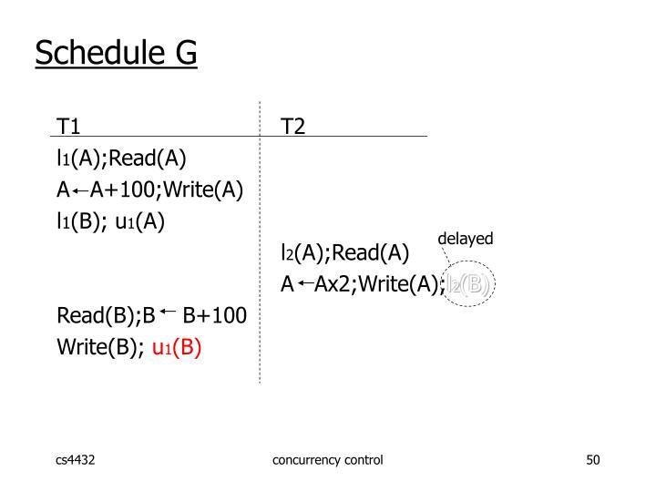 Schedule G