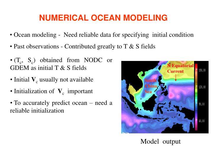 NUMERICAL OCEAN MODELING