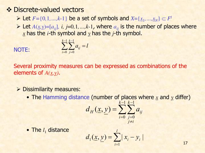 Discrete-valued vectors