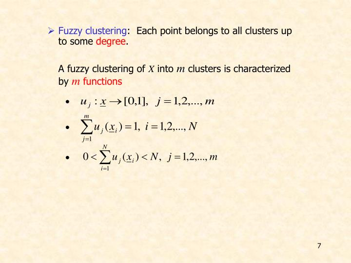 Fuzzy clustering