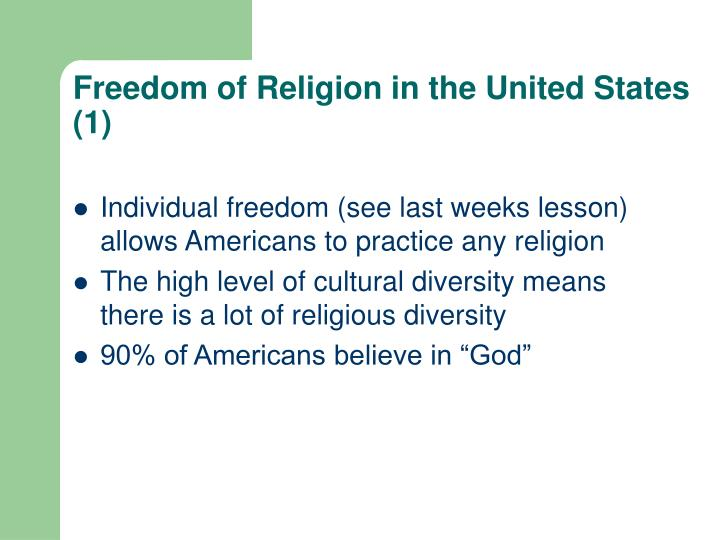 Freedom of religion in the united states 1