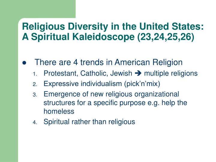 Religious Diversity in the United States: A Spiritual Kaleidoscope (23,24,25,26)