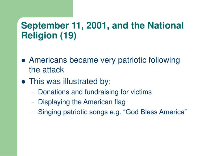 September 11, 2001, and the National Religion (19)