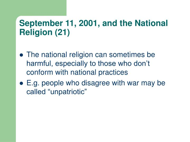 September 11, 2001, and the National Religion (21)