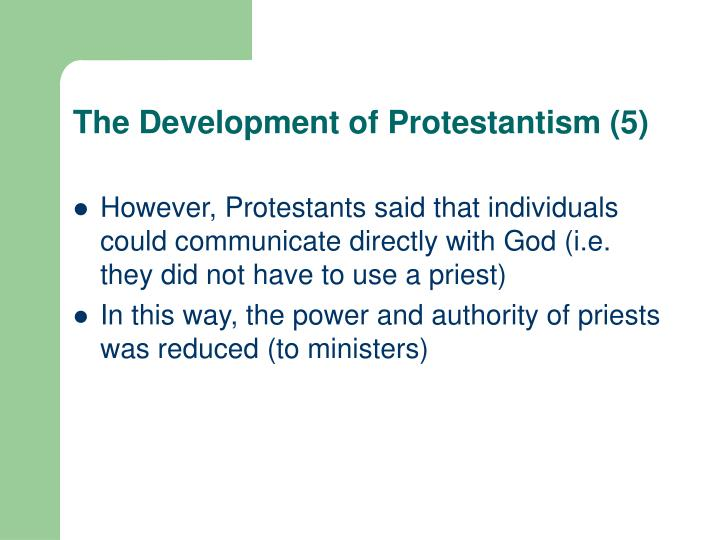 The Development of Protestantism (5)