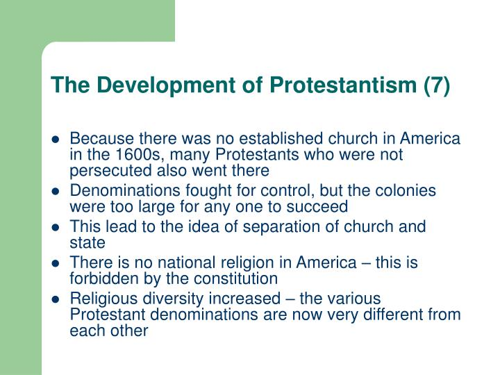 The Development of Protestantism (7)