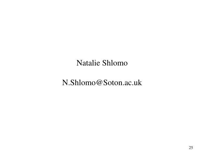 Natalie Shlomo