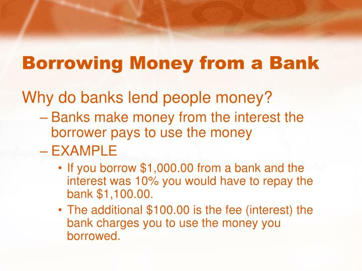 Ppt credit and borrowing powerpoint presentation id Borrowing money to build a house