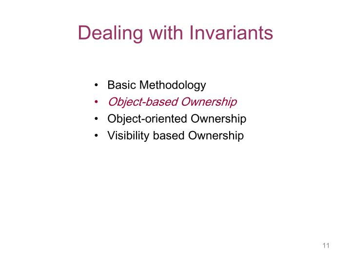 Dealing with Invariants