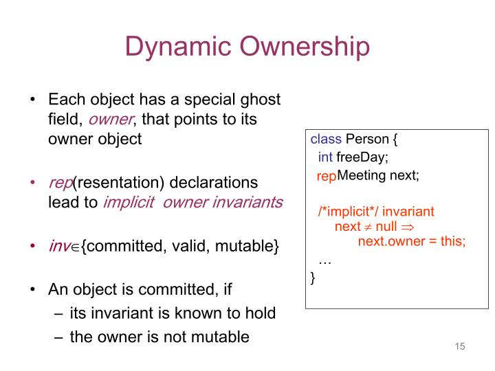 Dynamic Ownership