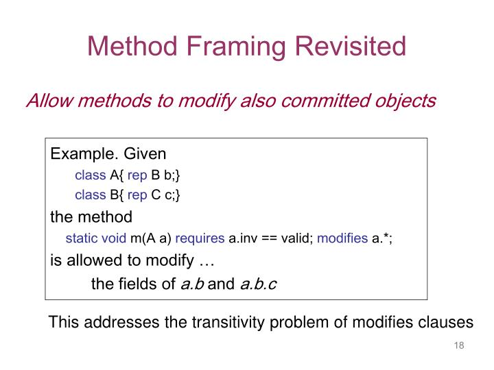 Method Framing Revisited