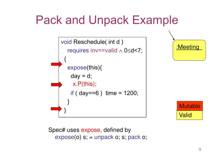 Pack and Unpack Example