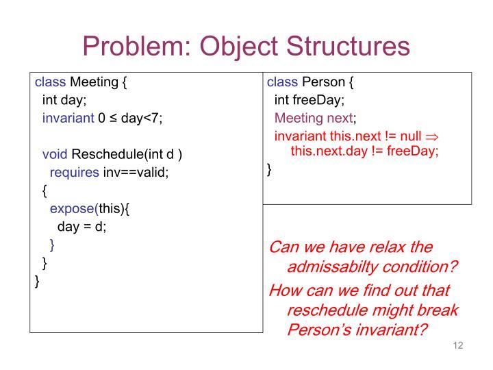 Problem: Object Structures