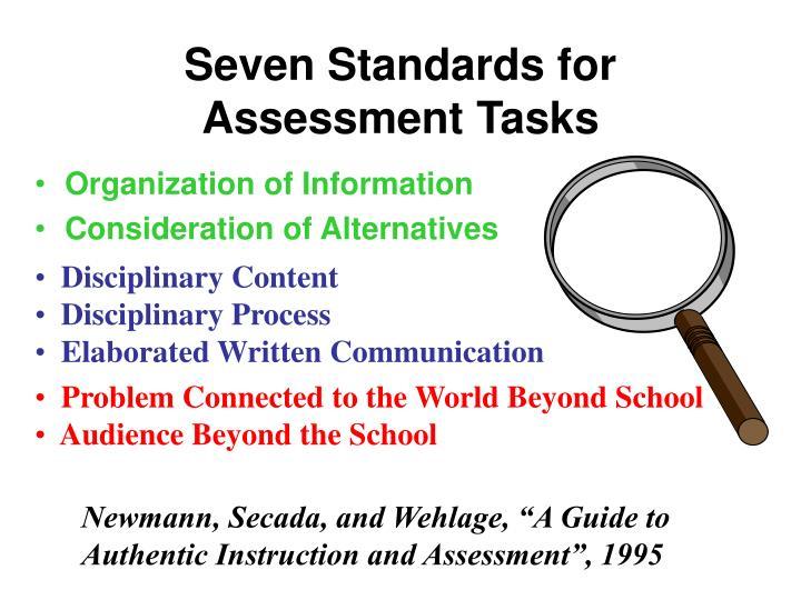 Seven Standards for