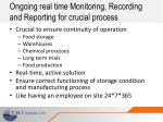 ongoing real time monitoring recording and reporting for crucial process