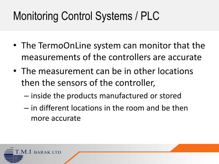 Monitoring Control Systems / PLC