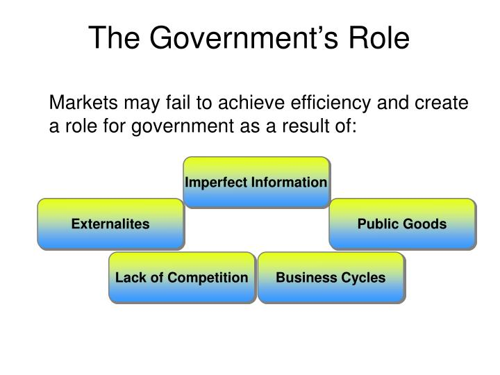 The Government's Role