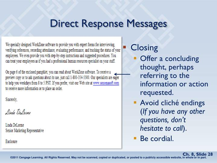 Direct Response Messages