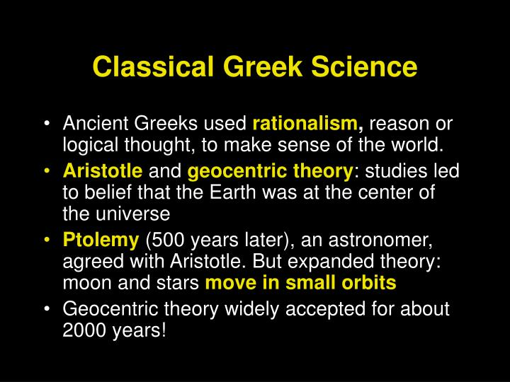 Classical greek science