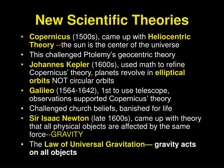 New Scientific Theories