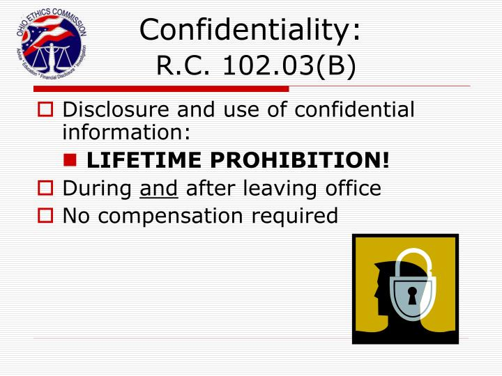 Confidentiality:
