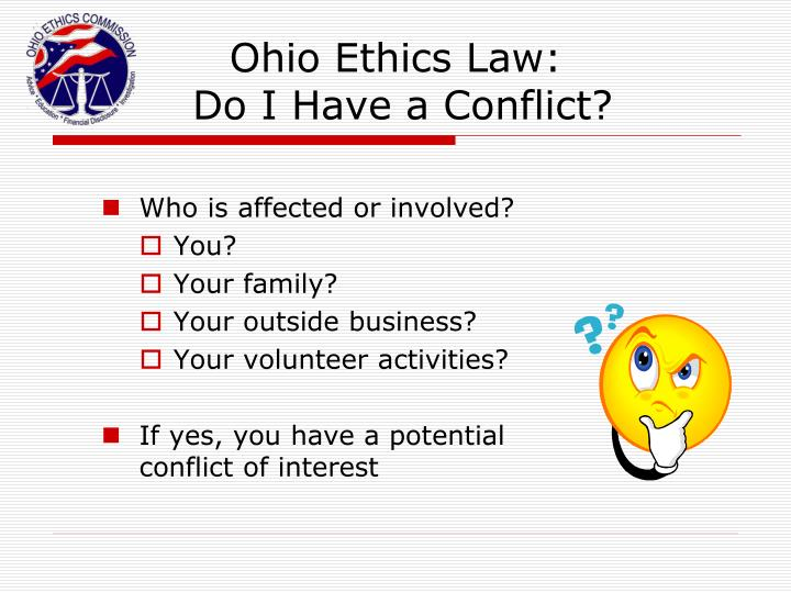 Ohio Ethics Law: