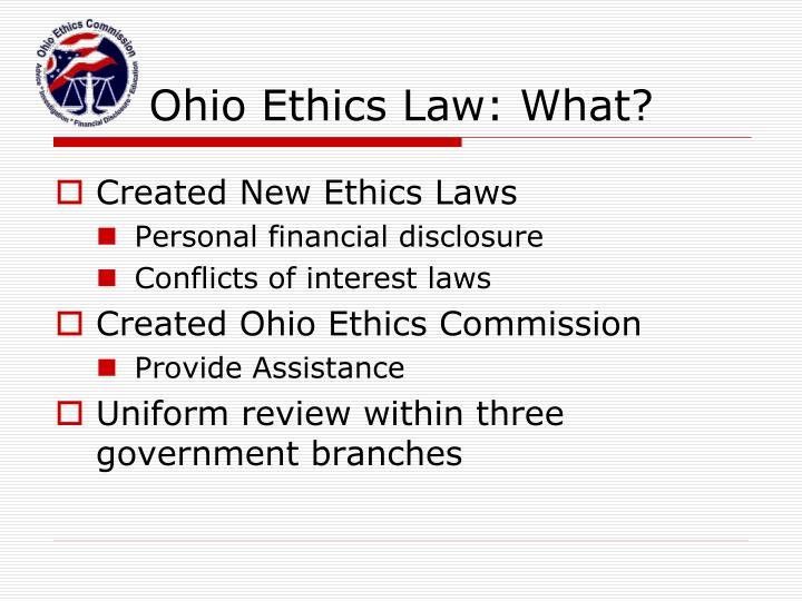 Ohio Ethics Law: What?