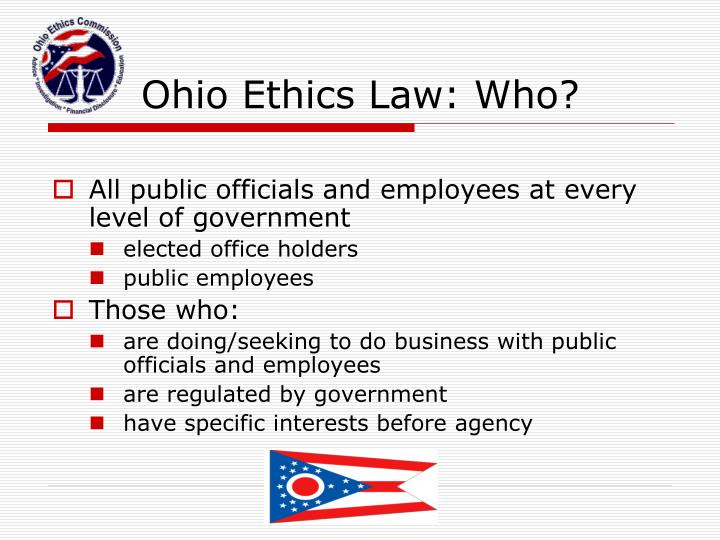 Ohio Ethics Law: Who?