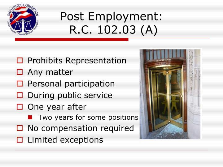 Post Employment: