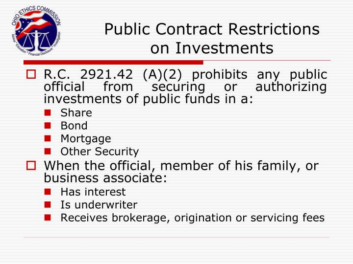 Public Contract Restrictions