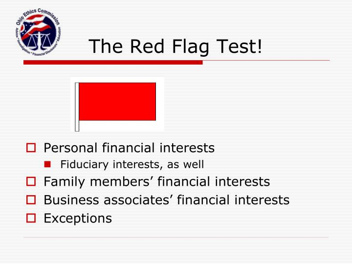 The Red Flag Test!