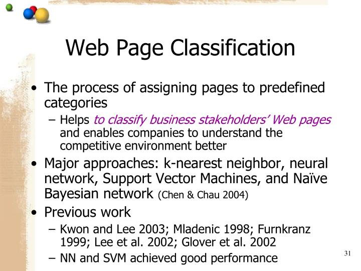Web Page Classification