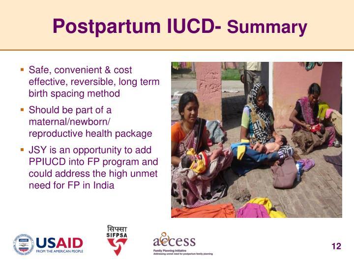 Postpartum IUCD-
