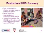 postpartum iucd summary