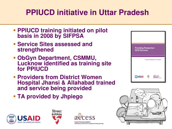 PPIUCD initiative in Uttar Pradesh