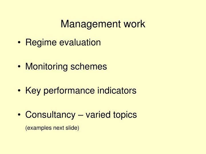 Management work