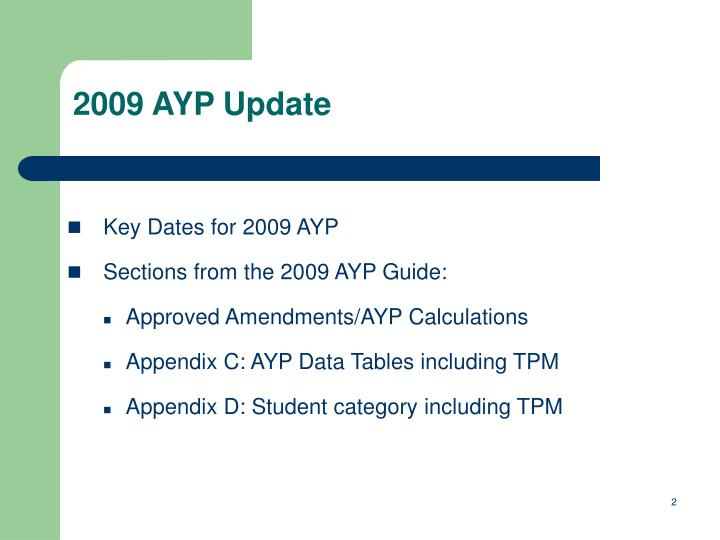 2009 AYP Update