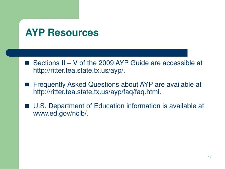 AYP Resources