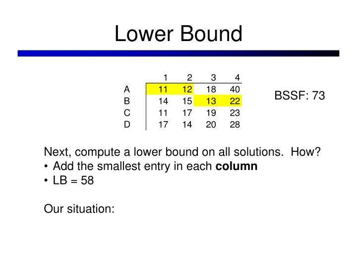 Lower Bound