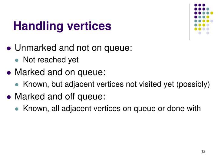 Handling vertices