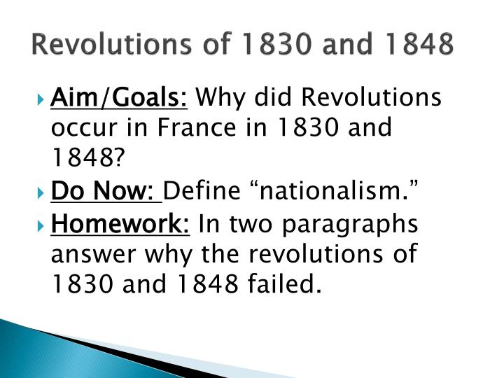 Revolutions of 1830 and 1848