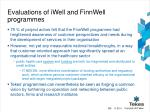 evaluations of iwell and finnwell programmes