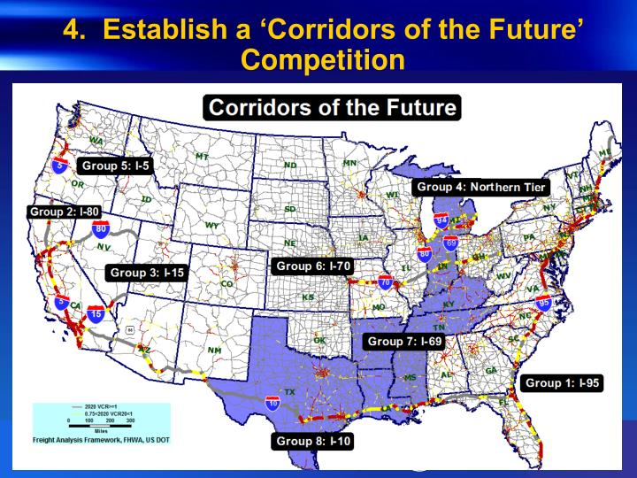 4.  Establish a 'Corridors of the Future' Competition